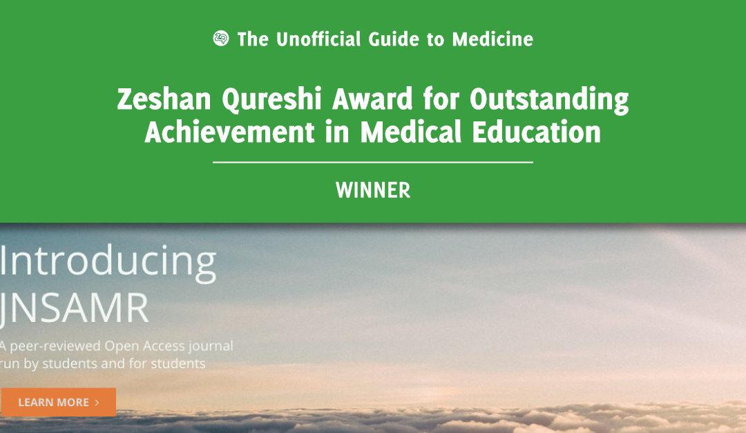 Zeshan Qureshi Award for Outstanding Achievement in Medical Education Winner: Matthew Byrne