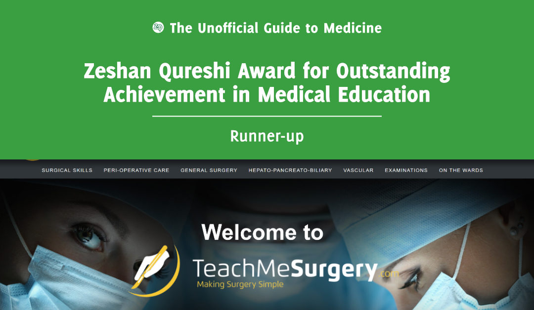 Zeshan Qureshi Award for Outstanding Achievement in Medical Education Runner-up: Philip Stather