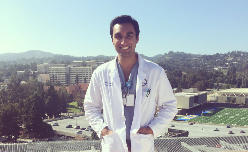 Medical Education Award - Adeel on rooftop