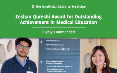 Zeshan Qureshi Award for Outstanding Achievement in Medical Education Highly Commended: Bhavesh Tailor and Tanya Ta