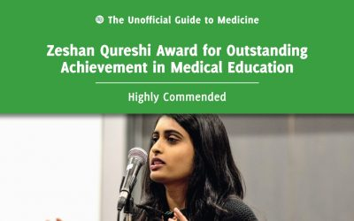 Zeshan Qureshi Award for Outstanding Achievement in Medical Education Highly Commended: Milani Sivapragasam