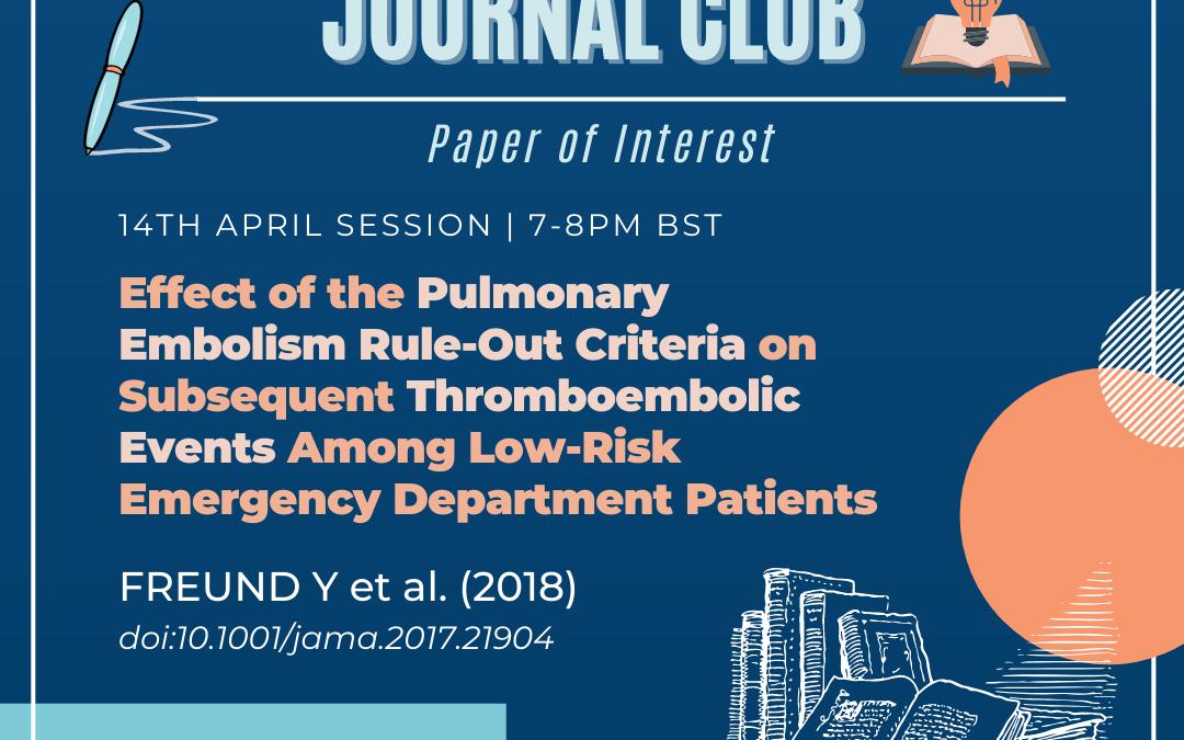 The Journal Club: Freund Y et al. (2018)